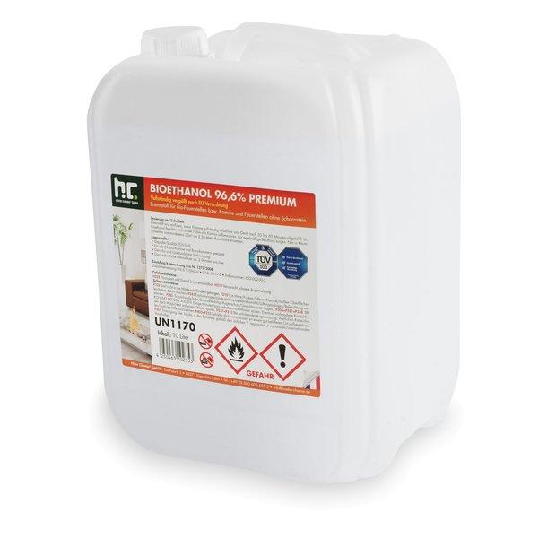 10 L Bioethanol 96,6% Premium