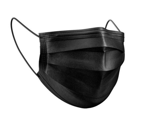 Mund-Nasen-Maske 50 Stück schwarz